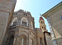 The Cathedral of the Savior in Saragossa Stock Photography