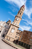 Cathedral of the Savior in Saragossa, Spain Stock Images