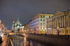 Cathedral of the Savior on Spilled Blood in St. Petersburg Stock Photo
