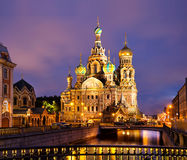 Cathedral of Savior on Spilled Blood in St Petersburg Royalty Free Stock Photos