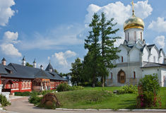 Cathedral in Savvino-Storozhevsky Monastery in Zvenigorod Stock Images
