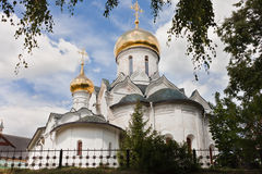 Cathedral in Savvino-Storozhevsky Monastery in Zvenigorod Royalty Free Stock Photo