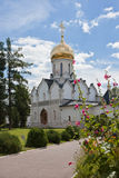 Cathedral in Savvino-Storozhevsky Monastery in Zvenigorod royalty free stock photography