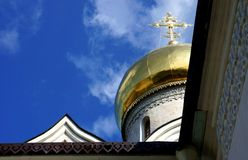 The cathedral of Savvino-Storozhevsky Monastery in Zvenigorod Royalty Free Stock Photos