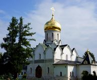 The cathedral of Savvino-Storozhevsky Monastery in Zvenigorod Royalty Free Stock Photography