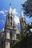 Cathedral of Se of Sao Paulo, Brazil royalty free stock photos