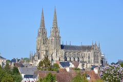 Cathedral of Sees in France royalty free stock image