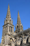 Cathedral of Sees in Normandie Stock Images