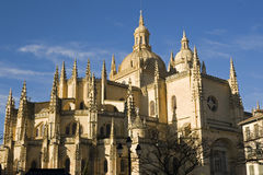 The Cathedral of Segovia. Stands in the city's central plaza Royalty Free Stock Image
