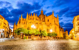 Cathedral of Segovia in Castile and Leon, Spain Royalty Free Stock Image