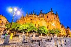 Cathedral of Segovia in Castilla y Leon, Spain Stock Image