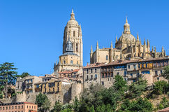 Cathedral of Segovia, Castilla y Leon, Spain royalty free stock images