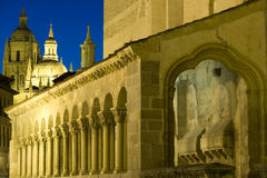 Cathedral in Segovia stock images