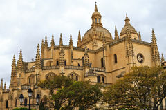 Cathedral of Segovia, Spain. Cathedral of Segovia, Castile-Leon, Spain Royalty Free Stock Image