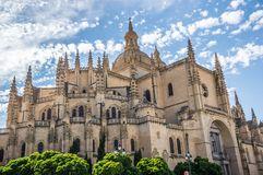 Cathedral in Segovia, Spain Royalty Free Stock Photos