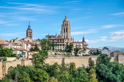 Cathedral in Segovia, Spain Stock Image