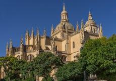 Cathedral in Segovia, Spain. Catedral de Santa Maria de Segovia in the historic city of Segovia Castilla y Leon Spain Stock Images