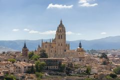 Cathedral of Segovia Stock Photos