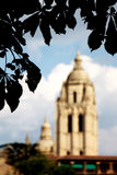 Cathedral of segovia, the steeple, blurred Stock Images