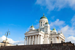 Cathedral on Senate Square in Helsinki Royalty Free Stock Photography