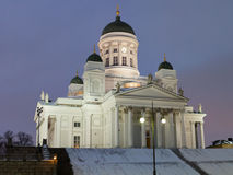 Cathedral on Senate Square in Helsinki Stock Image