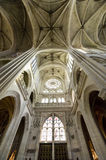 Cathedral of Senlis, interior Stock Photos
