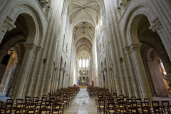 Cathedral of Senlis, interior Royalty Free Stock Photos