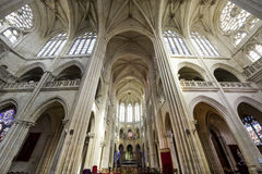 Cathedral of Senlis, interior Royalty Free Stock Images
