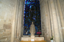 Cathedral of Senlis (Oise, Picardy, France), interior Stock Photo