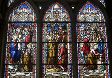 Cathedral of Senlis, stained glass Stock Images