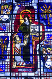 Cathedral of Senlis, stained glass Stock Photo