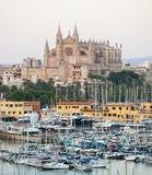 Cathedral Seu Seo of Palma de Mallorca. At Balearic Islands in Spain Stock Image