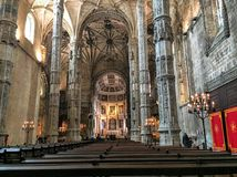 Cathedral of Sevilla. The beautiful Architecture of Cathedral of Sevilla in Spain Royalty Free Stock Photography