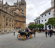 Cathedral of Sevilla Stock Photography