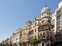 Avenida in Seville stock photo