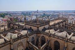 Cathedral Sevilla royalty free stock photography
