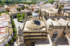 Cathedral of Seville. View from La Giralda, Andalusia, Spain Royalty Free Stock Photos