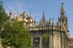 Cathedral of Seville. Andalusia, Spain stock photography