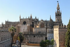 Cathedral of seville. Cathedral or building of Christian worship in the city of Seville. This cathedral is the third largest in the world and the photograph is Royalty Free Stock Image