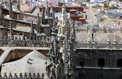 Cathedral of Seville -- Cathedral of Saint Mary of the See, Andalusia, Spain Royalty Free Stock Photography