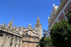 Cathedral of Seville -- Cathedral of Saint Mary of the See, Andalusia, Spain. Is the third largest church in the world and at it time of completion in the Royalty Free Stock Photos