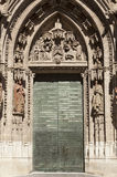 Cathedral of Seville door Stock Images