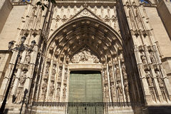 Cathedral of Seville gate Royalty Free Stock Image