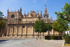 Cathedral of Seville and Giralda. Spain Royalty Free Stock Images