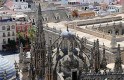 Cathedral of Seville. Cathedral of Saint Mary of the See, Andalusia, Spain -- is the third largest church in the world and at it's time of completion in Royalty Free Stock Images