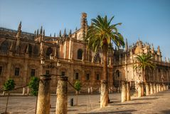 Cathedral in Seville, Spain. Details and spires of the Cathedral in Seville, Spain Stock Photo