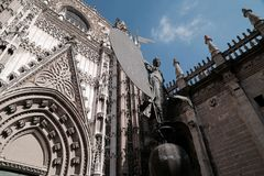 The Cathedral of Seville Royalty Free Stock Images