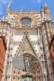 Cathedral in Seville, Spain. Fragment of a facade of a cathedral in Seville, Spain Royalty Free Stock Photography
