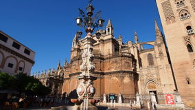 Cathedral in Seville, Spain stock video footage