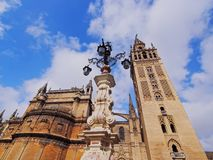 Cathedral in Seville, Spain Stock Images